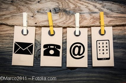 Brief, Telefon, Email, Smartphone