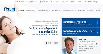 Elax.de - Gesunde und ergonomisch passende Matratzen direkt beim Experten kaufen