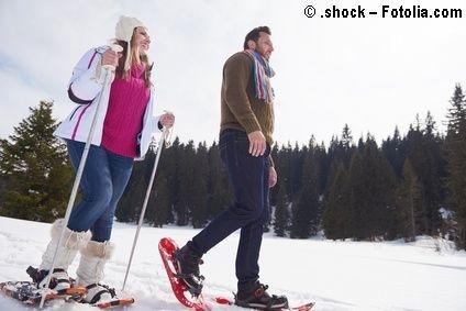 Schneeschuh-Gehen