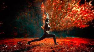 Yoga Position Frau