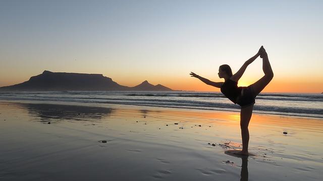 Yoga Position 2 Frau