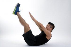 Bauch Sportübung Mann
