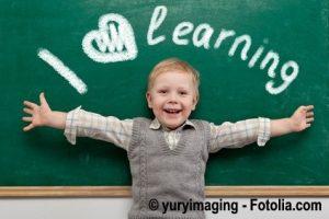 Kind Spaß am lernen