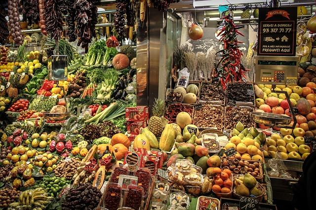 Obst und Gemüse Stand