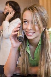 Mädchen Telefon