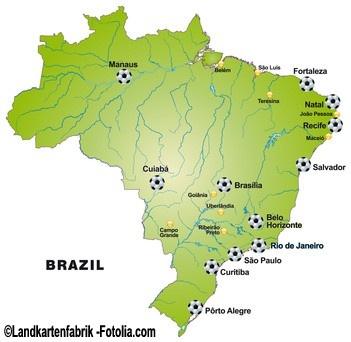 Austragungsorte der WM 2014