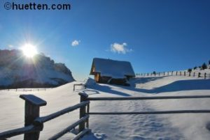 Berghütte Schnee Costaces 350