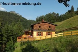 Berghütte Sommer Terrasse
