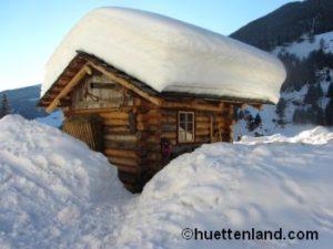 Berghütte Schnee