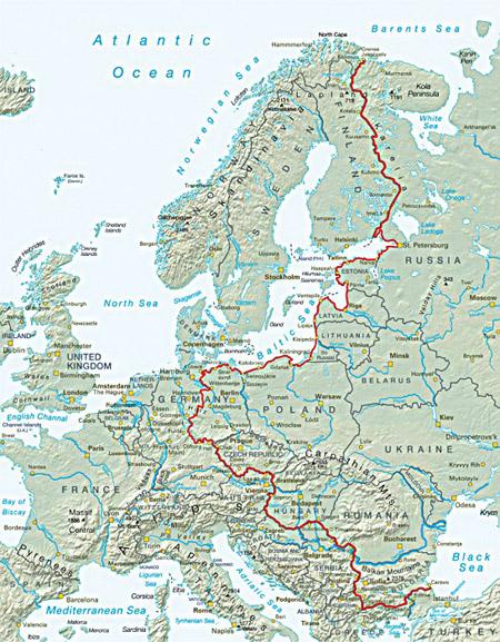 Der Iron Curtain Trail verläuft über 7.000 Kilometer quer durch Europa