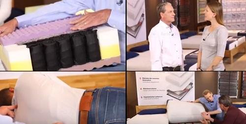 Ansicht verschiedener Videos zum Thema Matratzenberatung