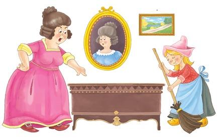 Aschenputtel mit der bösen Stiefmutter