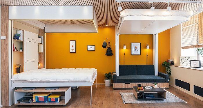 Betten die unter die Decke hochgefahren werden können
