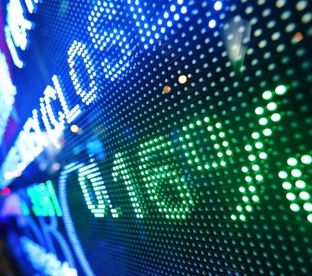 Große Kurstafel in der Börse