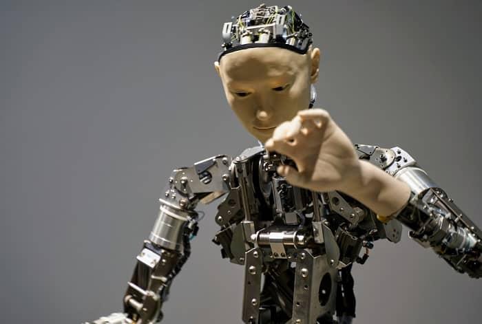 Ein Roboter bzw. das Innere eines menschlichen Roboters