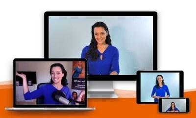 Verschiedene Videoansichten mit Yvonne de Bark